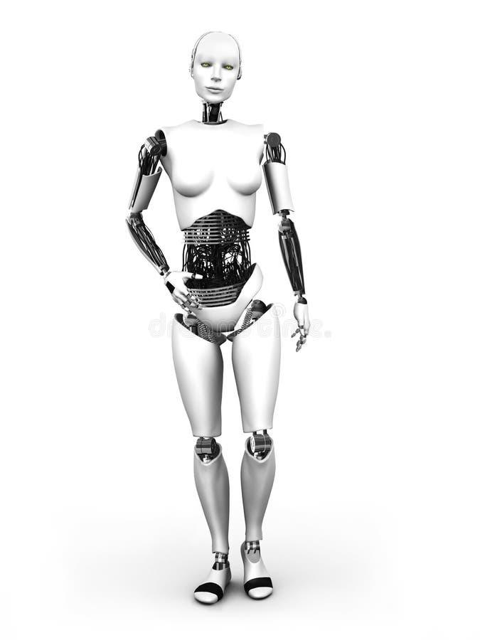 机器人妇女常设nr 1。 皇族释放例证