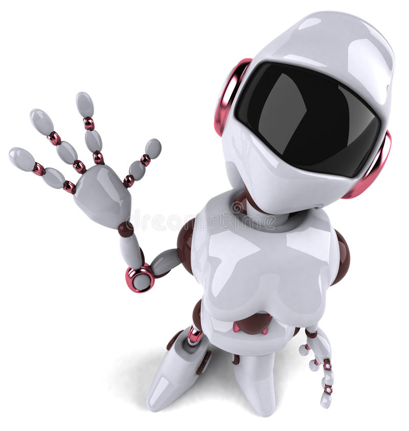 机器人妇女 库存例证
