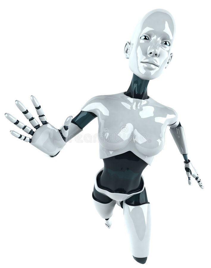 机器人妇女 库存图片