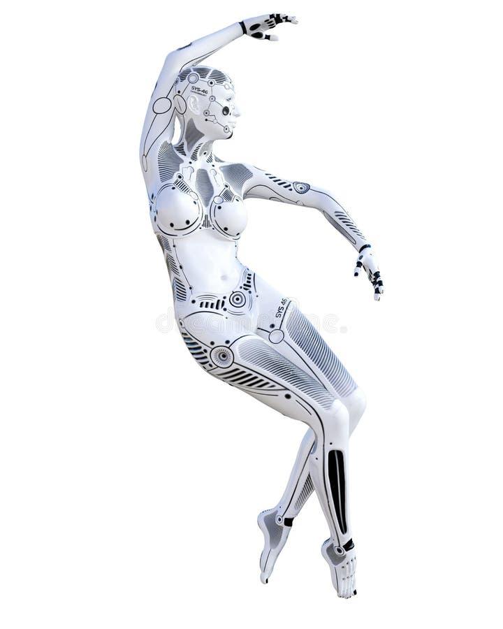 机器人妇女 ??droid 向量例证