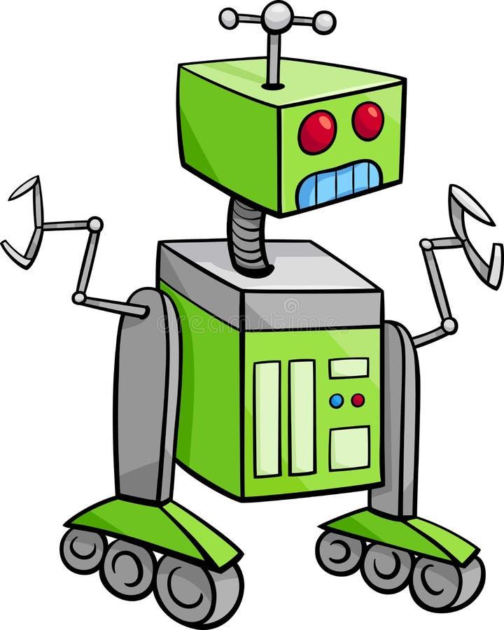 机器人字符动画片例证 皇族释放例证
