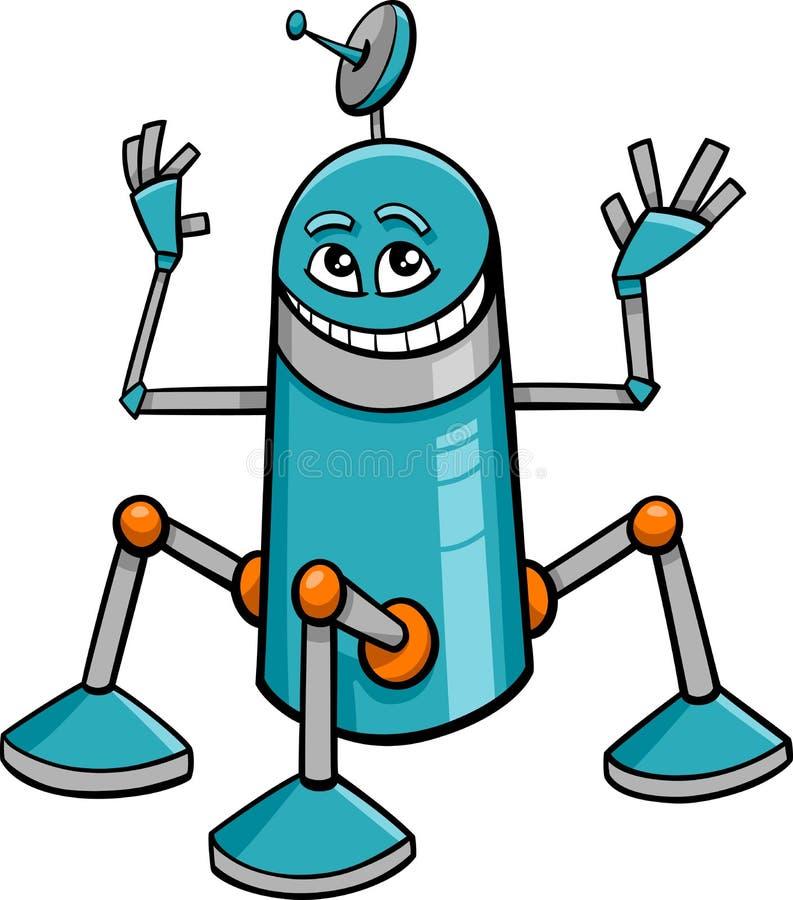 机器人字符动画片 向量例证