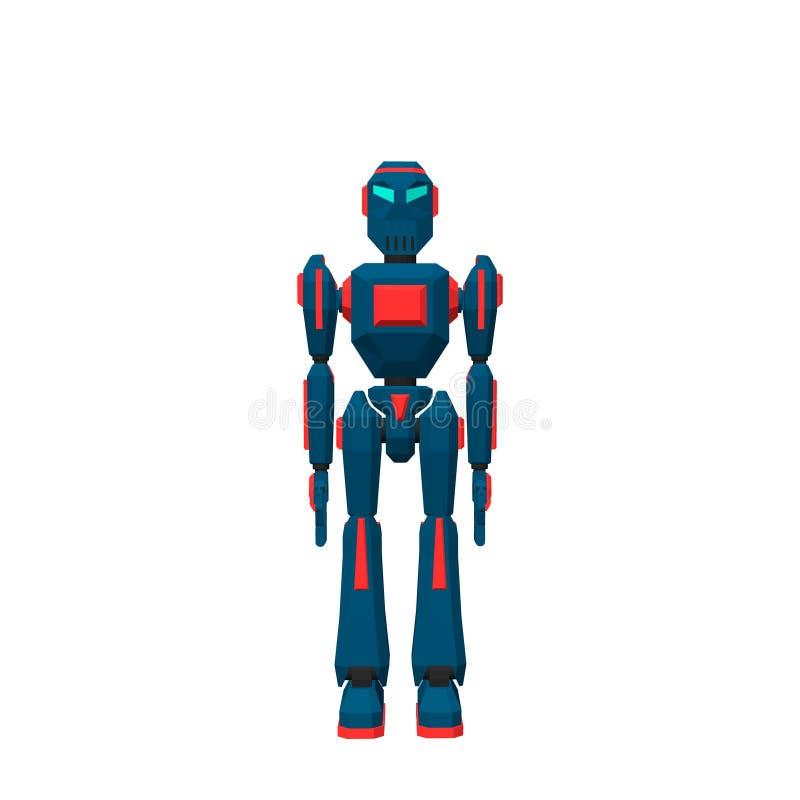 机器人字符 背景查出的白色 3d传染媒介illustr 向量例证
