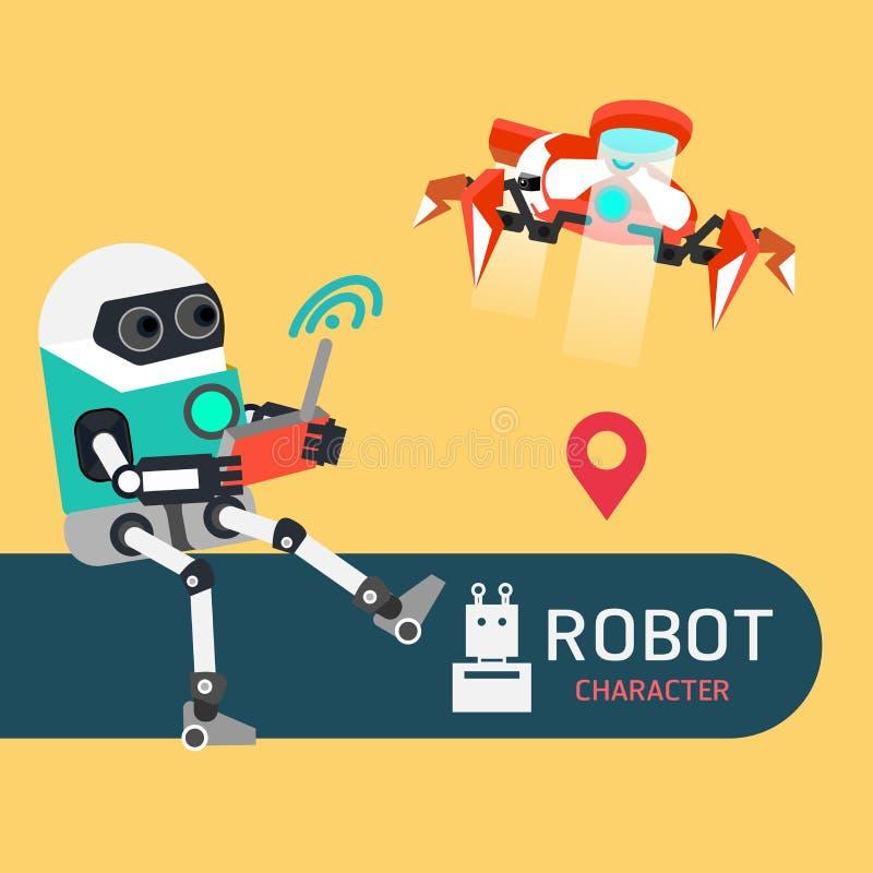 机器人字符 向量例证