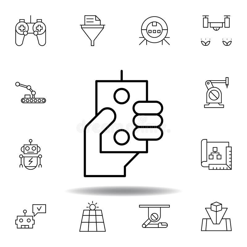 机器人学控制机器人手概述象 设置机器人学例证象 标志,标志可以为网,商标,流动应用程序使用 皇族释放例证