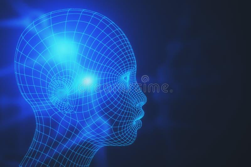 机器人学概念 库存例证