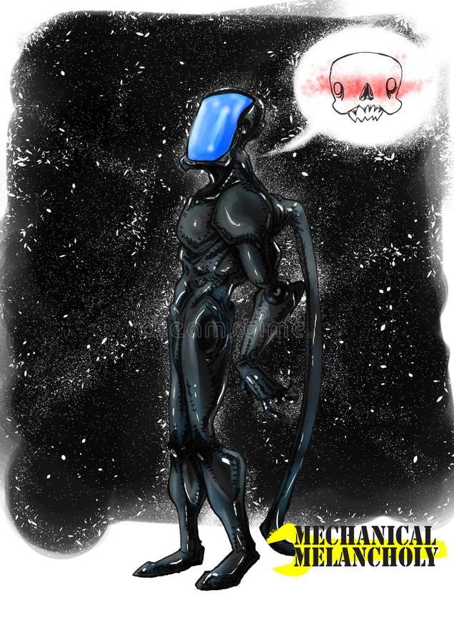 机器人宇宙mecchanical忧郁 皇族释放例证