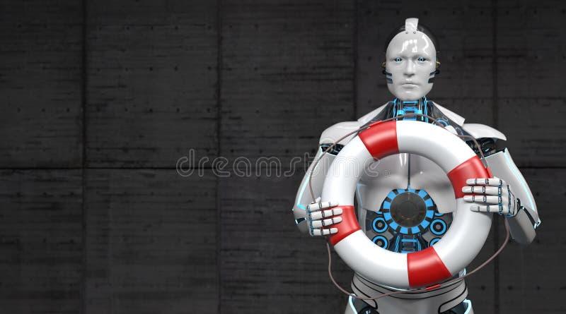 机器人安全带 向量例证