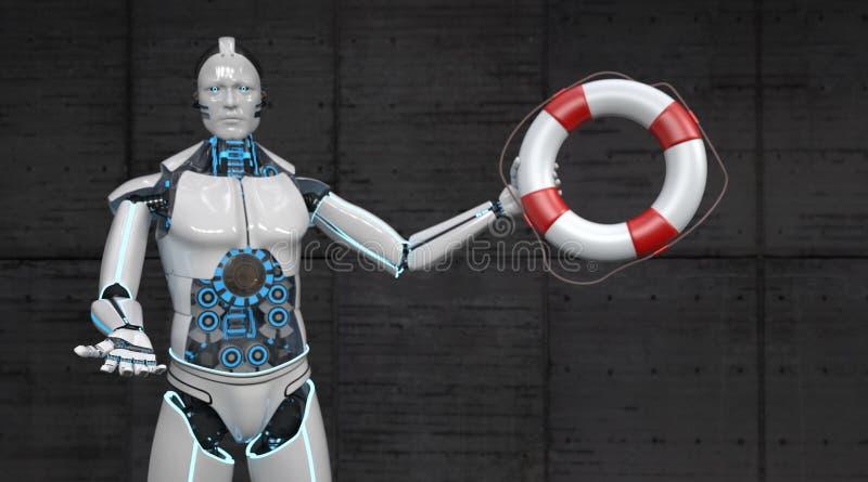 机器人安全带 库存例证