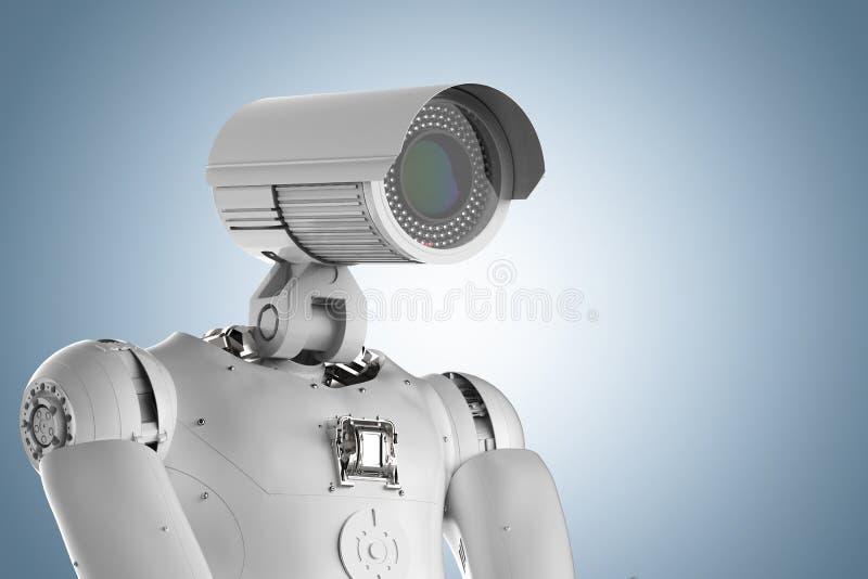 机器人安全监控相机 向量例证