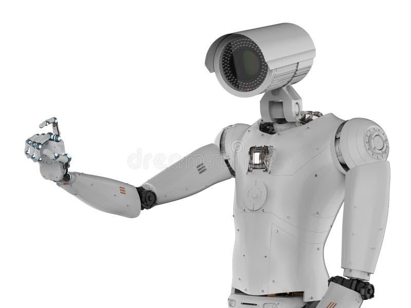 机器人安全监控相机 皇族释放例证