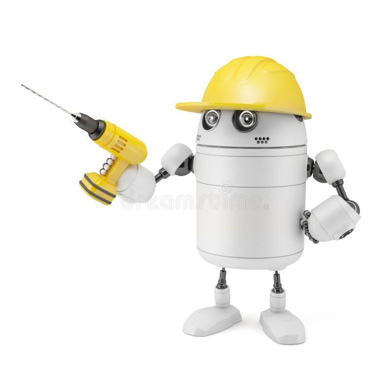 机器人工作者 向量例证