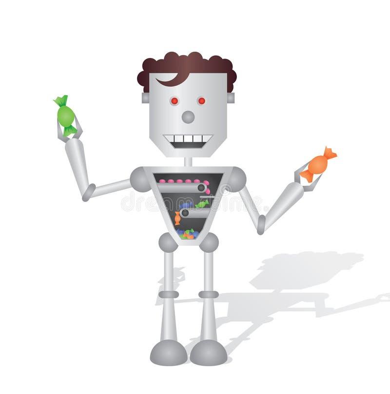 机器人工厂 向量例证
