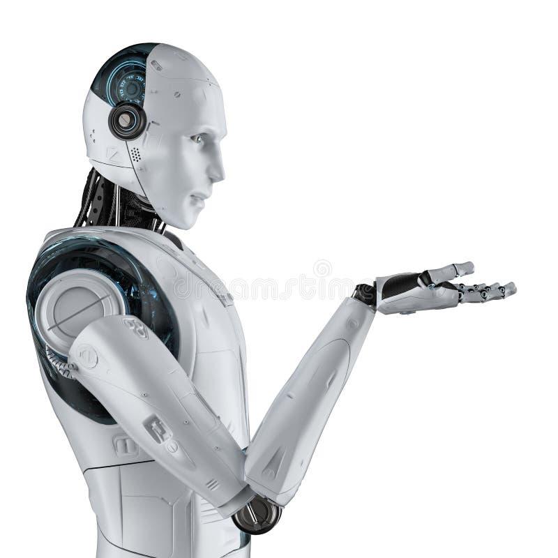机器人开放手 皇族释放例证