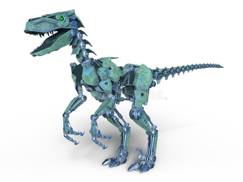 机器人恐龙 向量例证