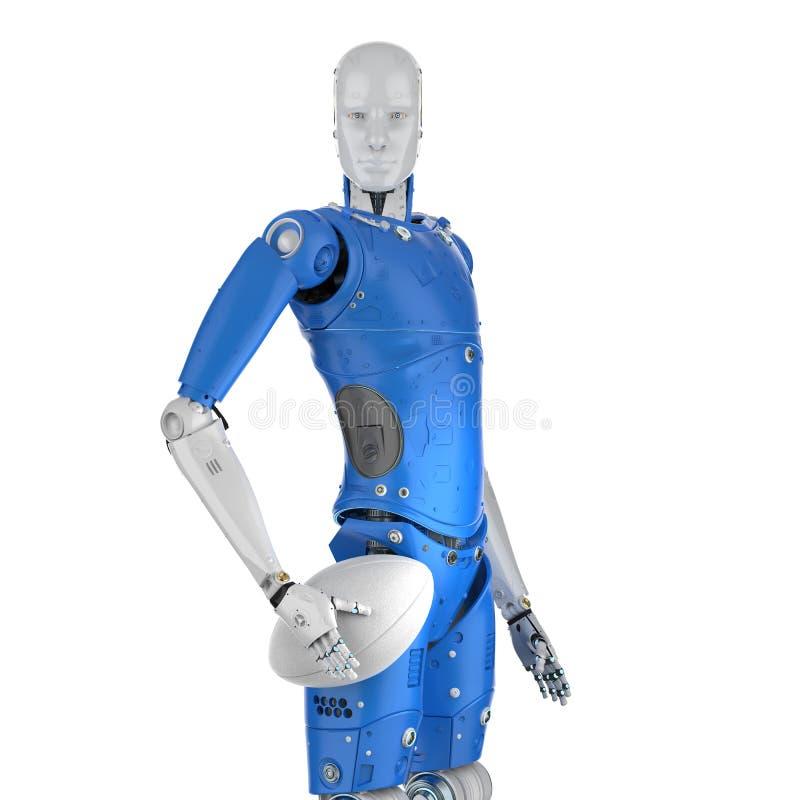 机器人戏剧橄榄球 库存例证