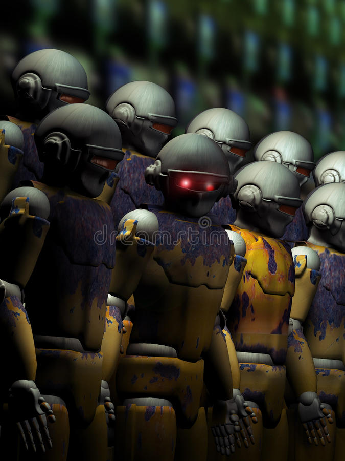 机器人戒备 库存例证