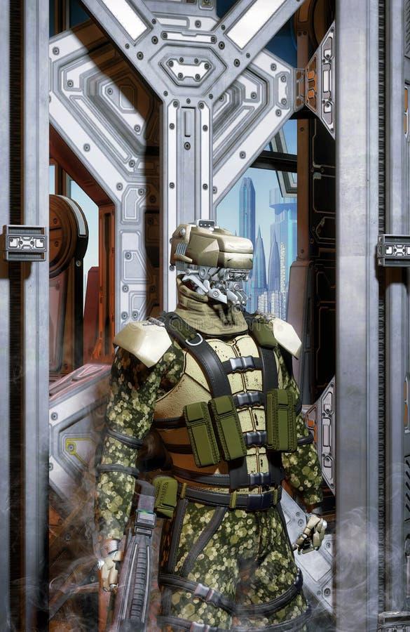 机器人战士警官 皇族释放例证