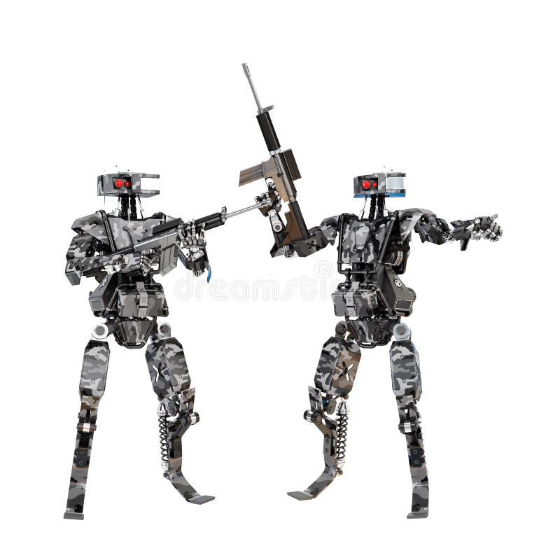 机器人战士队 免版税库存图片