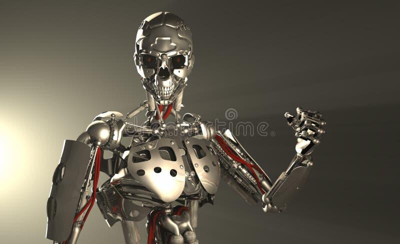 机器人战士 库存例证
