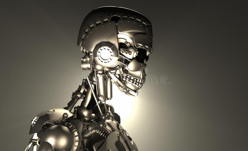 机器人战士 皇族释放例证