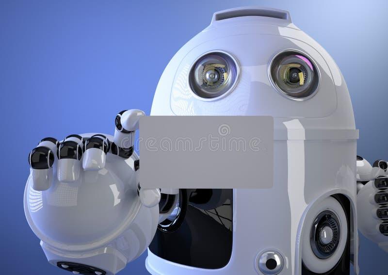 机器人手名片 包含裁减路线 库存例证