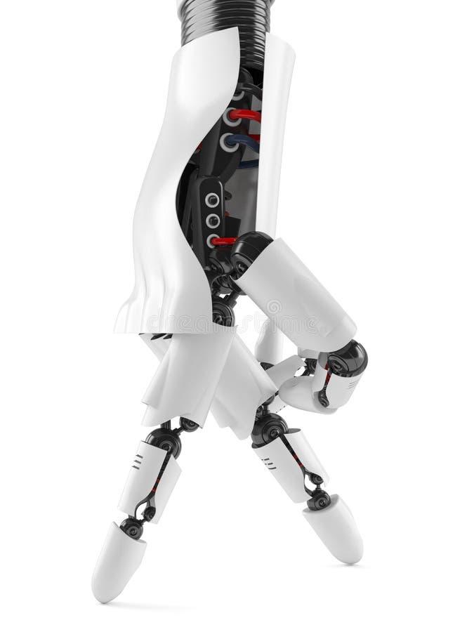 机器人手和蝴蝶 库存例证