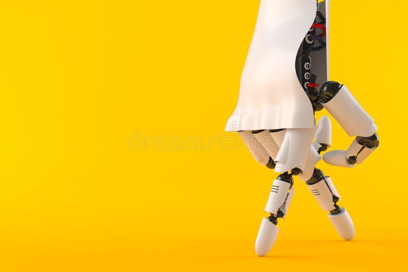 机器人手和蝴蝶 向量例证