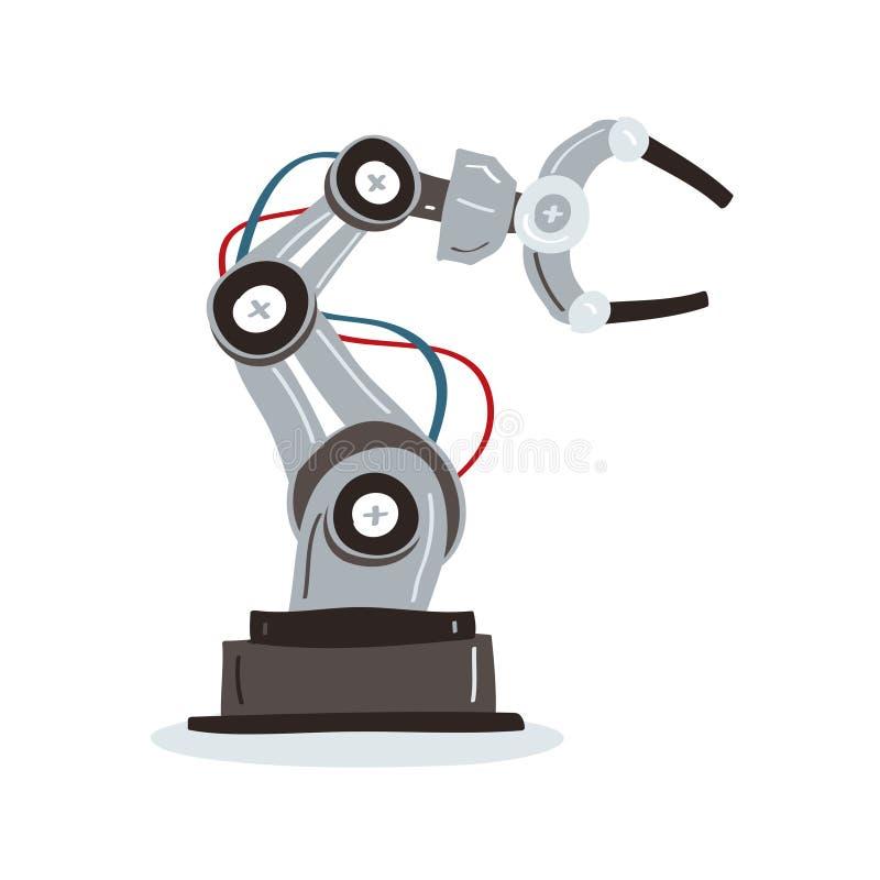 机器人手和蝴蝶 皇族释放例证
