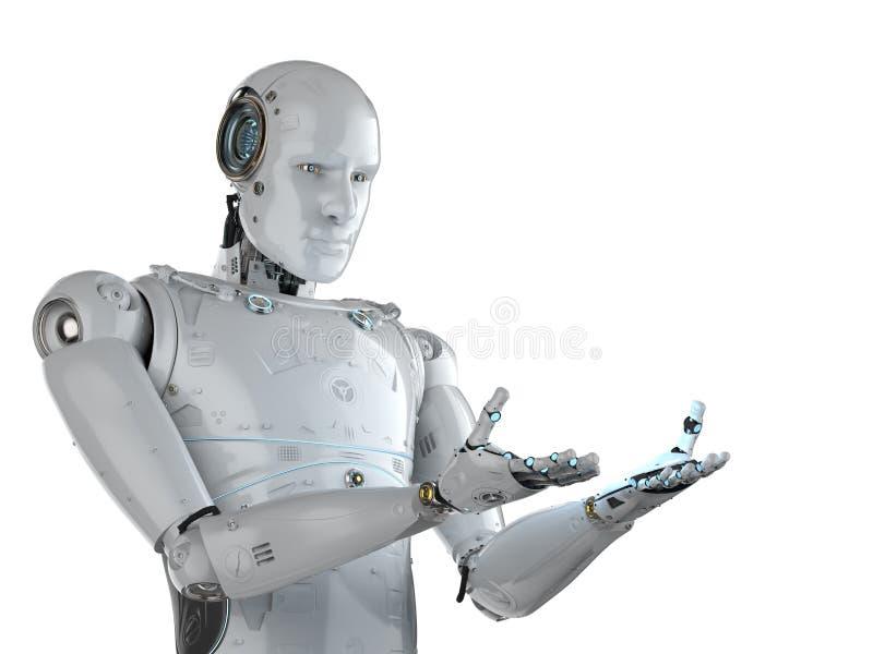 机器人手延伸 向量例证