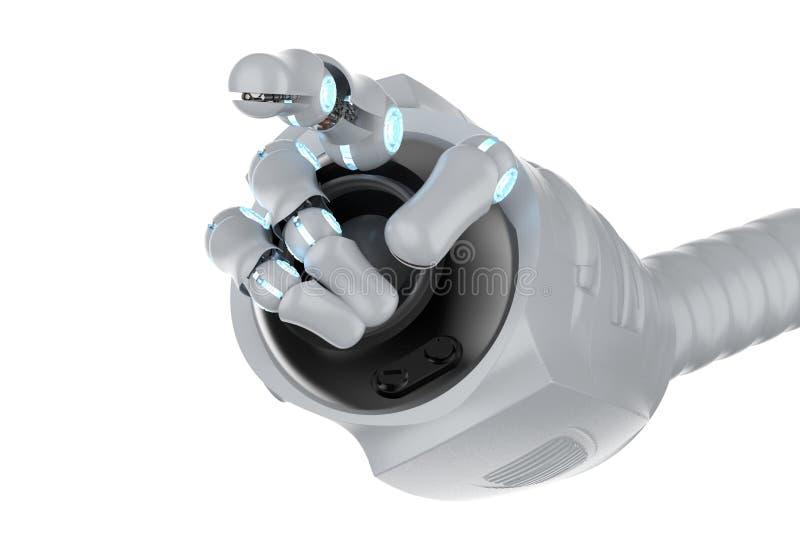 机器人手手指点 向量例证