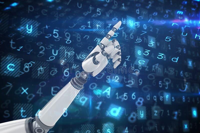 机器人手指向的综合图象 库存例证