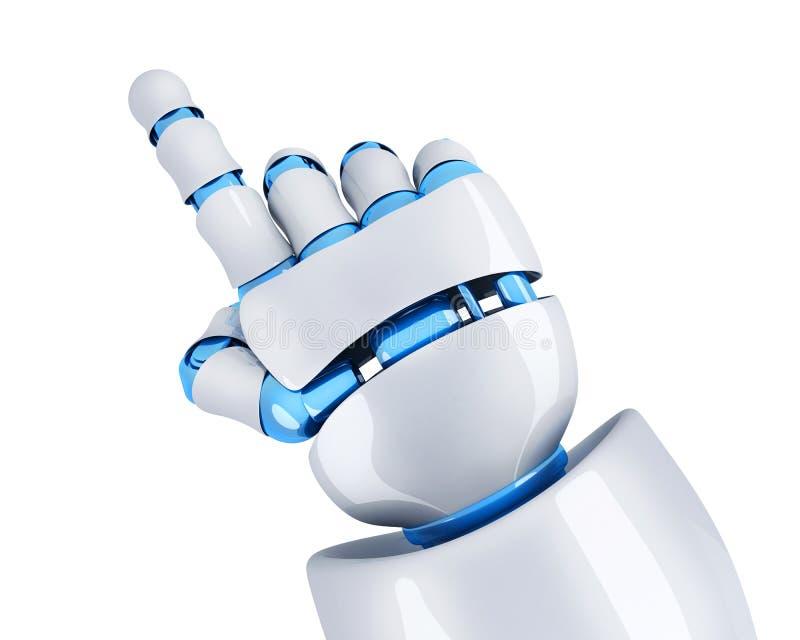 机器人手指定 皇族释放例证