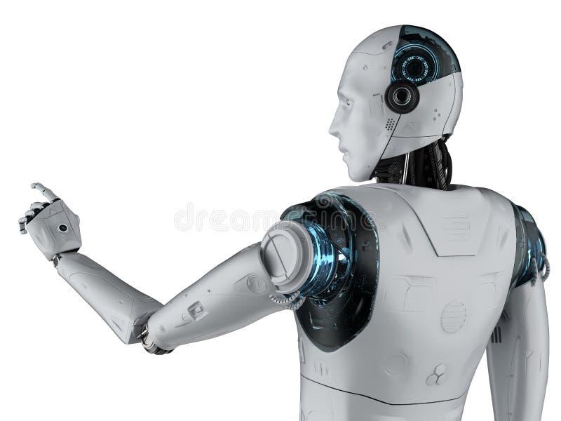 机器人手指点 向量例证