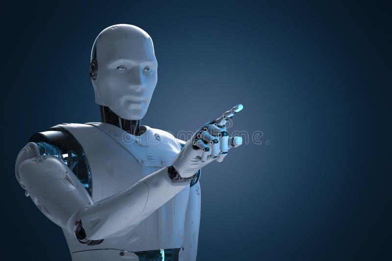 机器人手指点 皇族释放例证