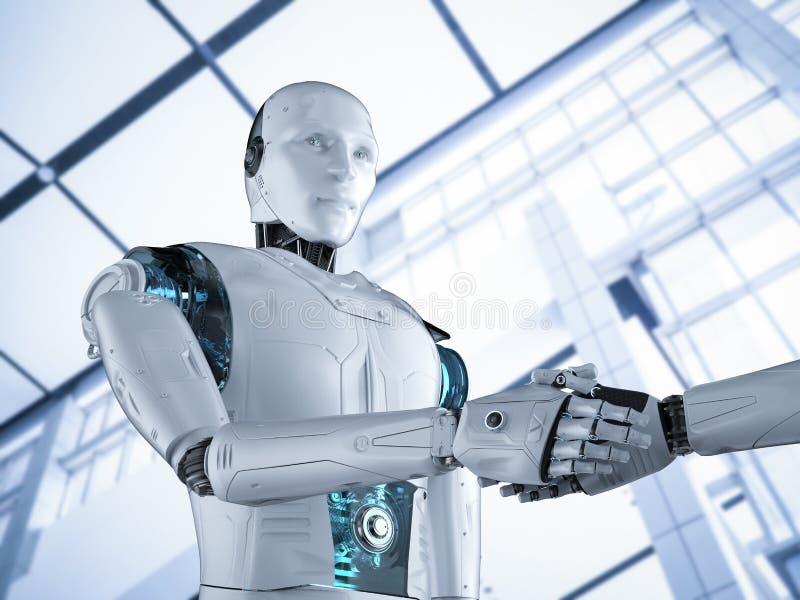机器人手震动 库存例证