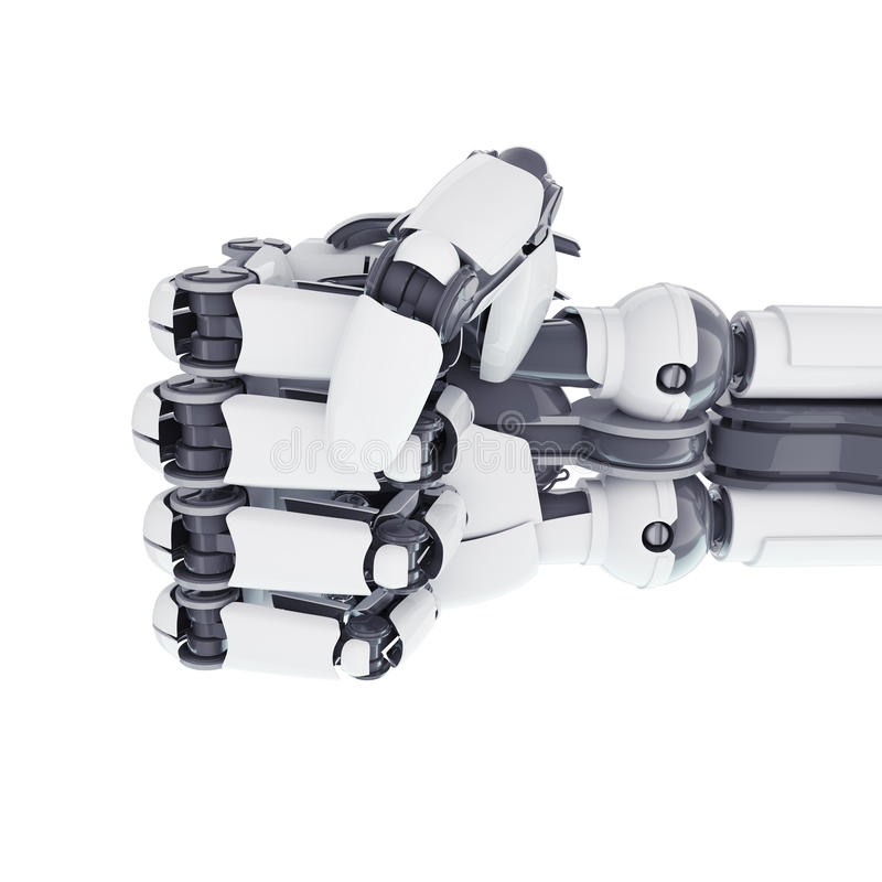 机器人拳头 皇族释放例证