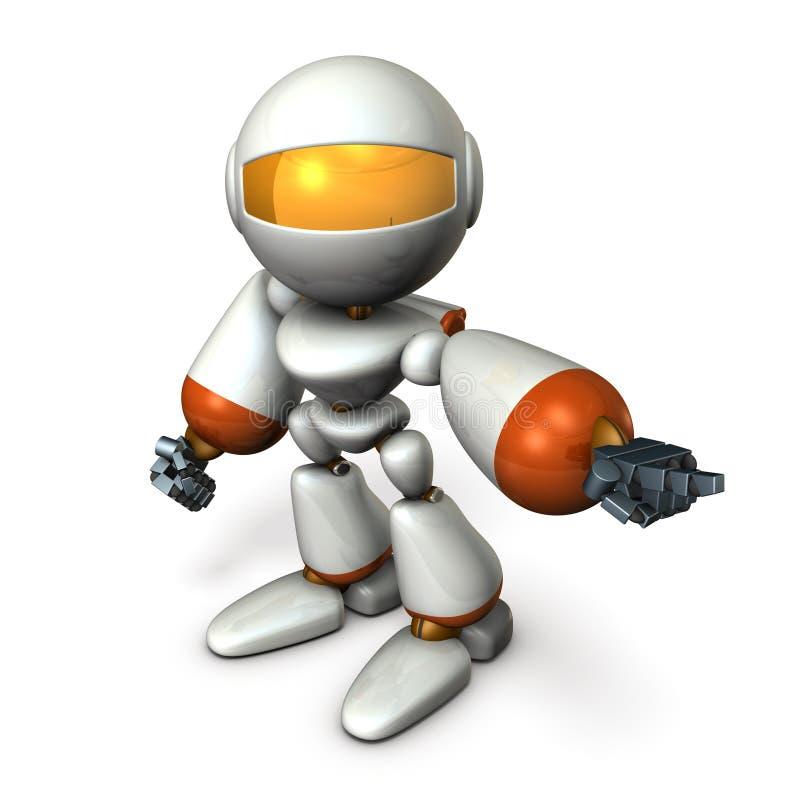 机器人指向它并且定购它 向量例证