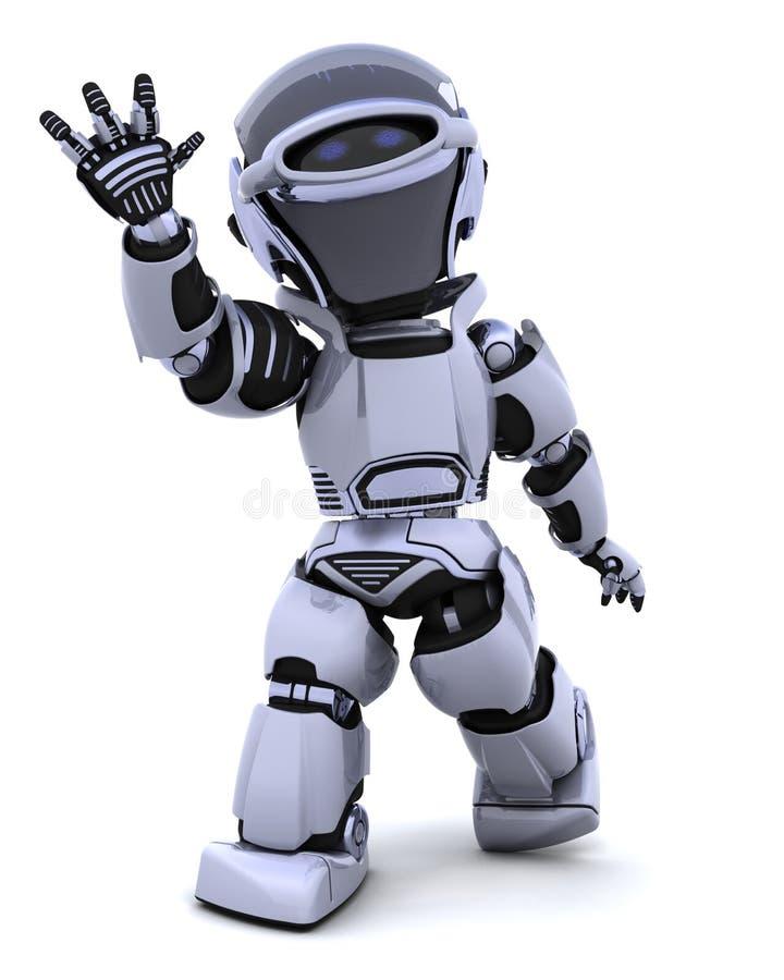 机器人挥动 皇族释放例证