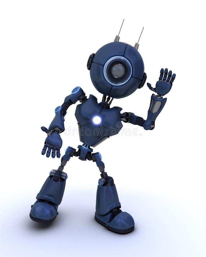 机器人挥动 库存例证