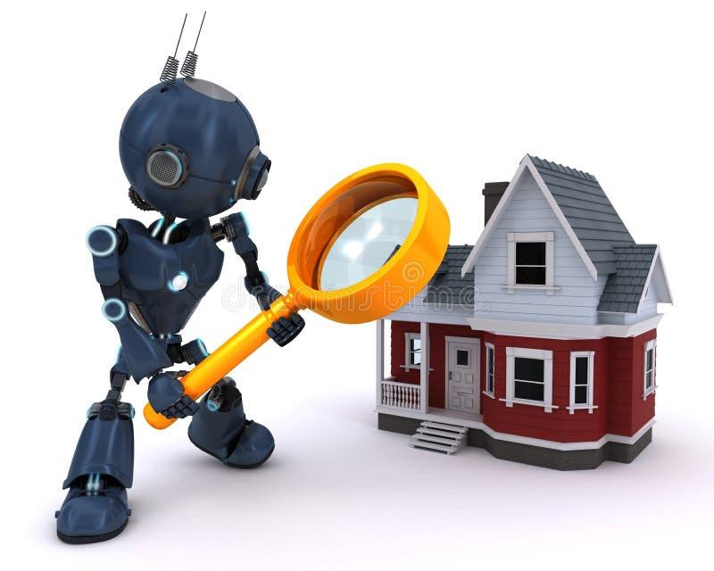 机器人搜寻房子 皇族释放例证