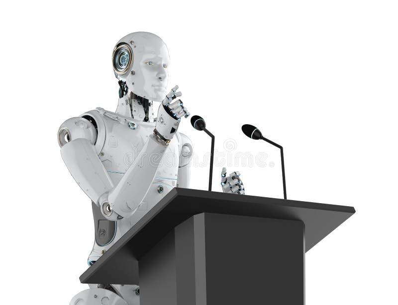 机器人政府发言人 图库摄影
