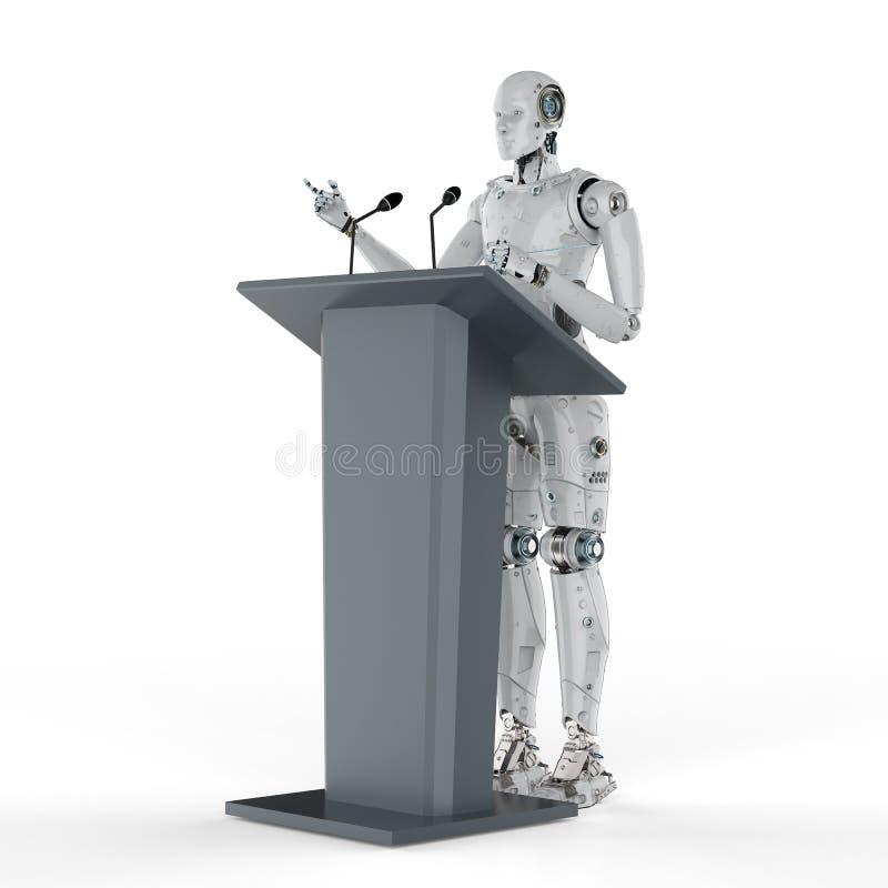 机器人政府发言人 库存例证