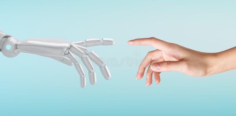 机器人数字式现有量人力例证涉及 库存图片