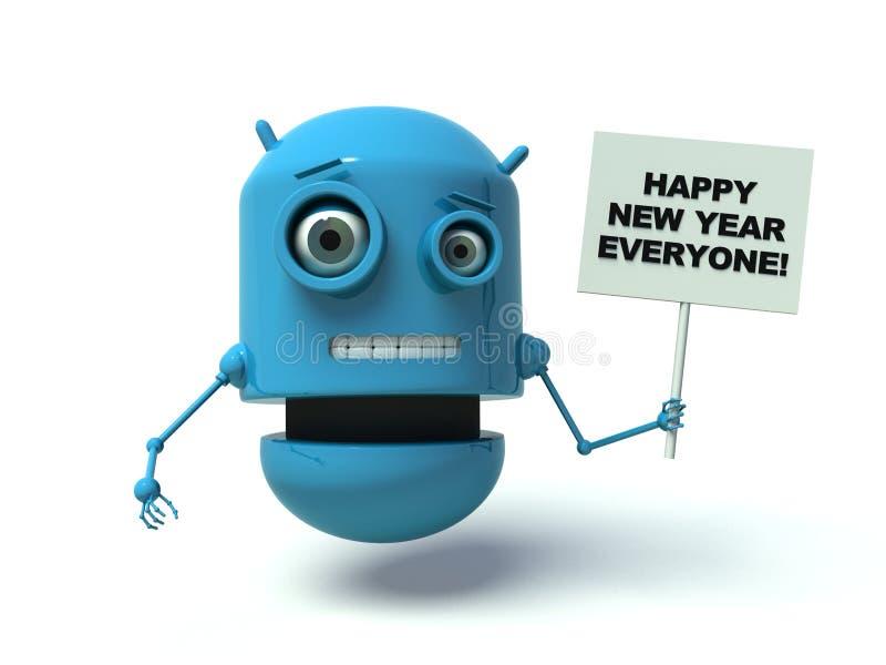 机器人新年 库存例证