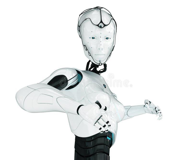 机器人时兴的女孩 向量例证