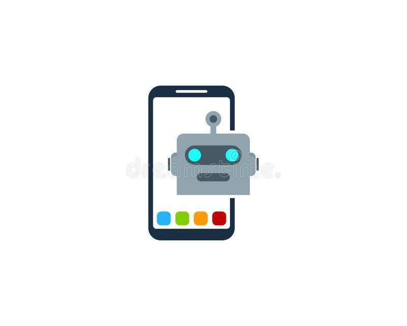 机器人智能手机商标象设计 皇族释放例证