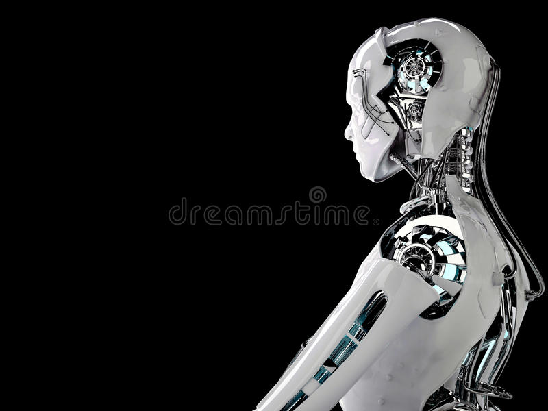 机器人机器人人 皇族释放例证