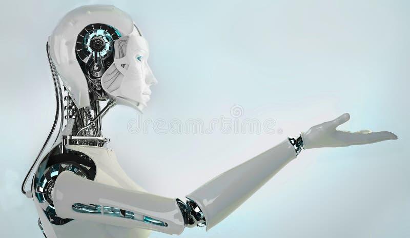 机器人机器人妇女 库存例证