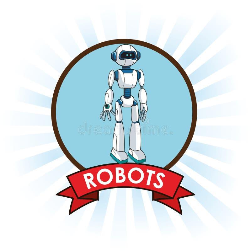 机器人机器人技术未来派横幅 向量例证